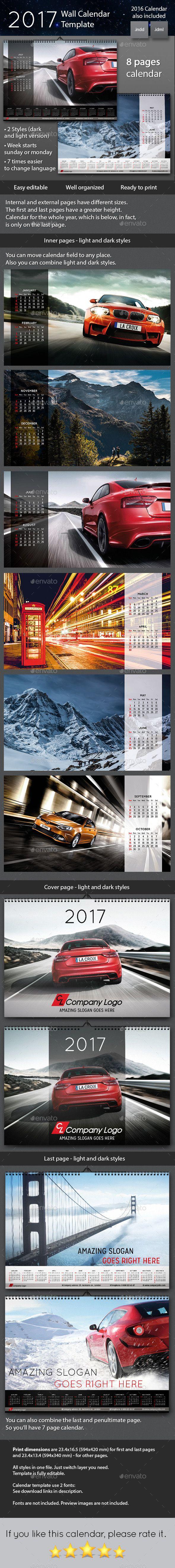 2017 Wall Calendar Calendars Stationery