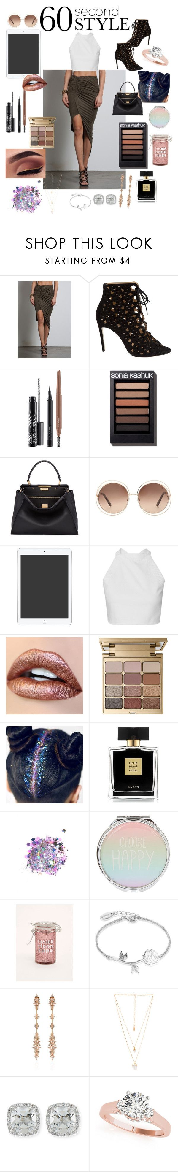 """037"" by cl0wds ❤ liked on Polyvore featuring Sans Souci, Bionda Castana, MAC Cosmetics, Fendi, Chloé, Stila, Avon, The Gypsy Shrine, Torrid and Disney"