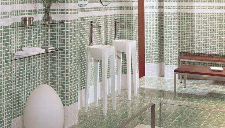 Decoraciones de inspiraci n artesanal en el dise o del - Azulejos mosaicos para banos ...
