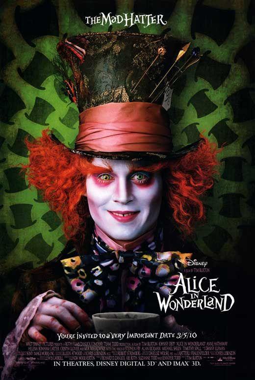 Alice in Wonderland - Johnny Depp 2010 | Movie Posters ...