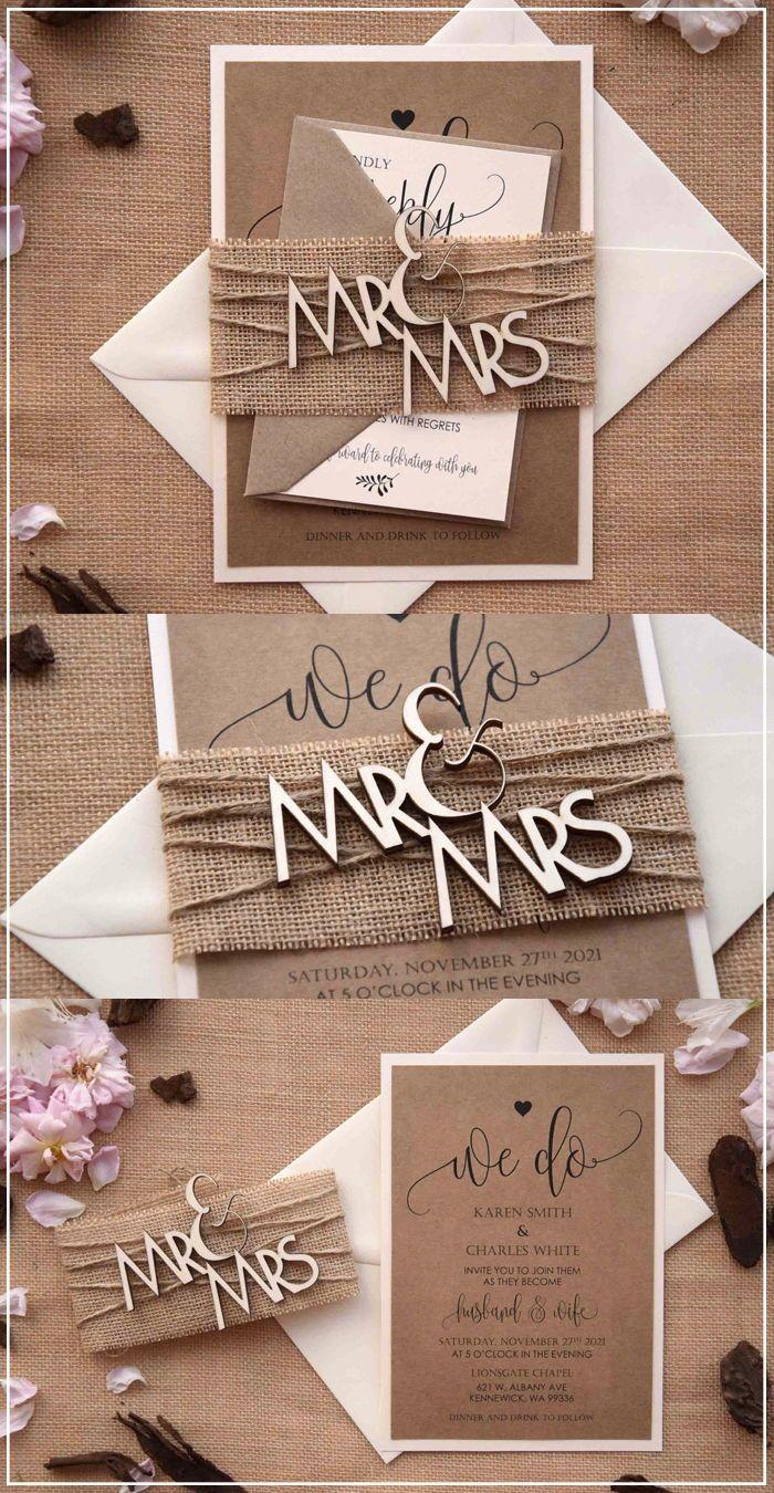 Mr And Mrs Wood Wedding Invitations Wood Rustic Invitations Wood Wedding Invitations Rustic Invitations Wedding Invitations Diy