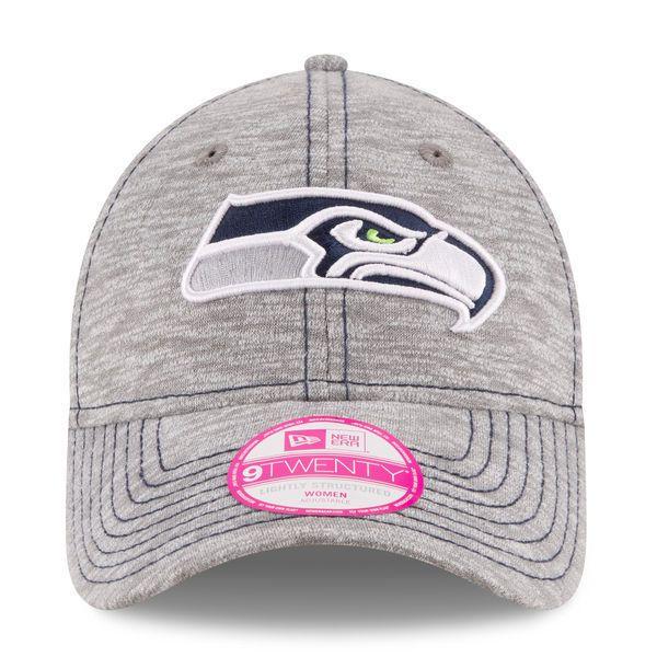 Women's New Era Gray Seattle Seahawks Team Mist 9TWENTY Adjustable Hat #NewEra #SeattleSeahawks