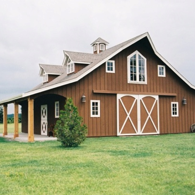 68 best images about pole barns on pinterest barn homes for Shop with living quarters kit