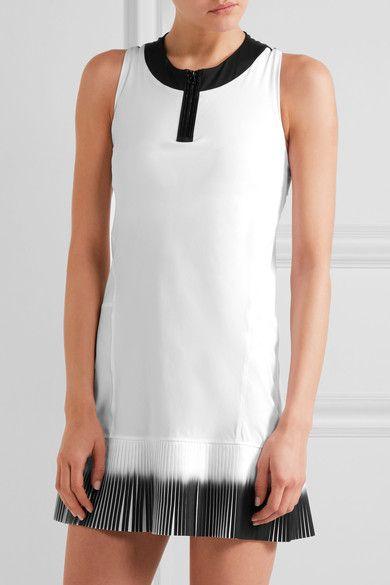 Monreal London - Plissé-paneled Stretch-jersey Tennis Dress - White - x small