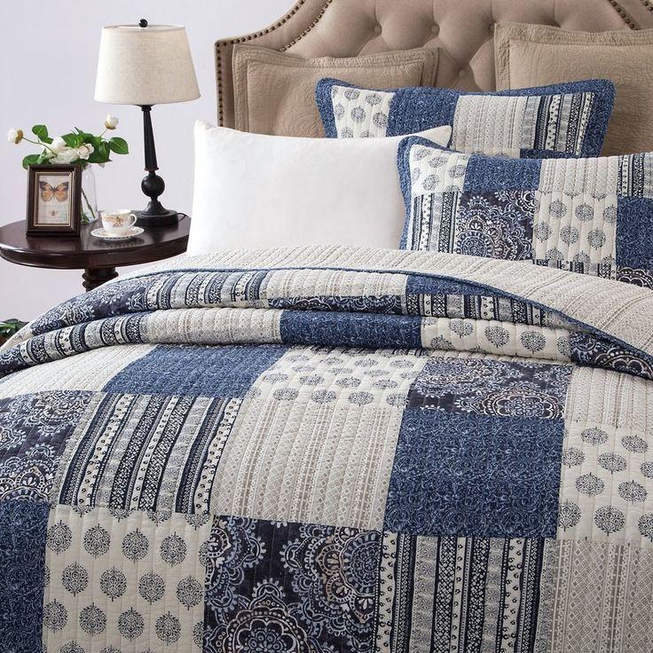 Jorgensen Bohemian Elegance Cotton Quilt Set Cotton Quilt Set Bed Spreads Patchwork Bedspread
