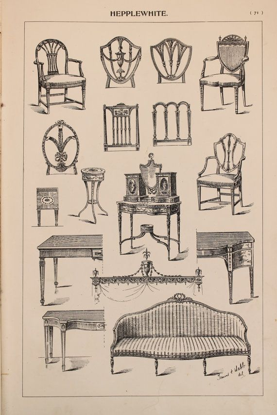 English Hepplewhite Furniture Designs Large By PaperPopinjay