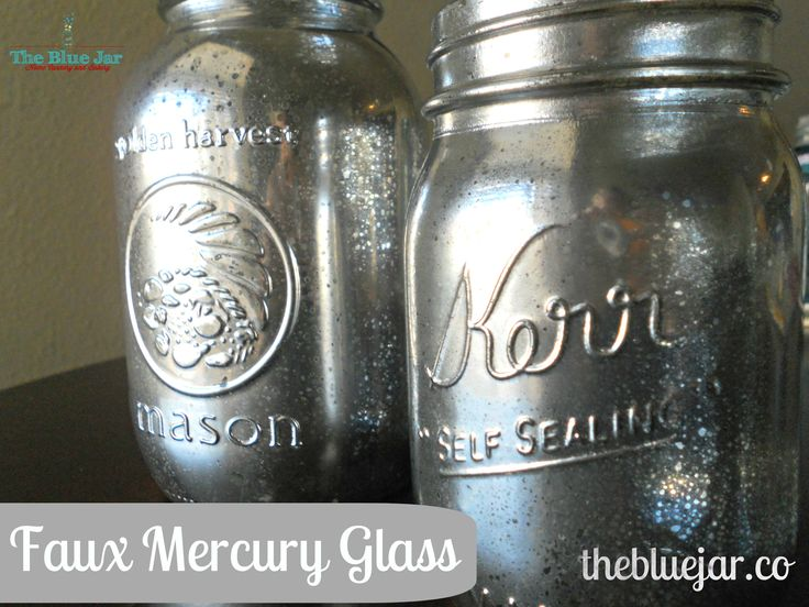 Faux Mercury Glass