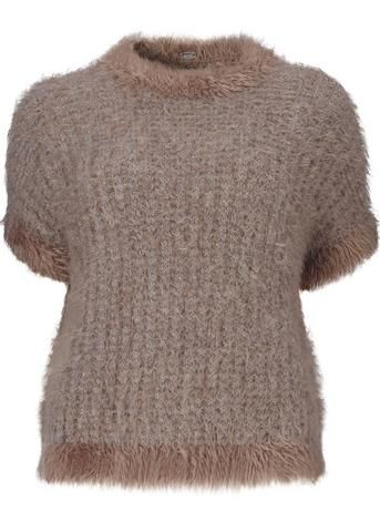 Gustav Sweater gråbrun 20405 Boxy Knit - 9245 wood smoke – Acorns