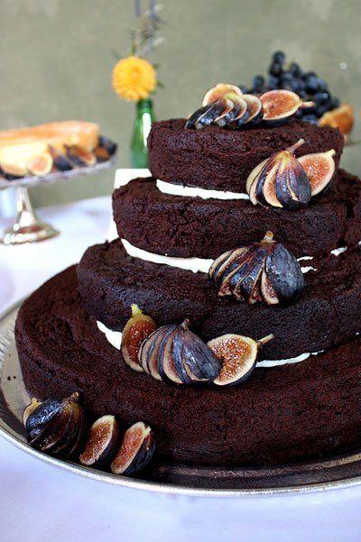 Home Cooking: The Homemade Wedding Cake: Chocolate Cake and Fresh Figs