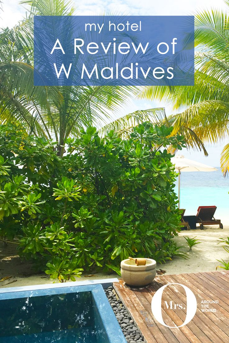 The Maldives is, without a doubt, my favorite place in the world. This time I spent time at the W Maldives. The exterior look of the beach villas was quite different from other resorts I had visited in the past. They have 2 floors and are 188 sqm made up of the bedroom area with a separate seating area, and an outdoor bathroom. Outside, there's a private pool, a day bed, 4 sun loungers (2 for the beach!), and a great sitting area on the first floor, above the bedroom.