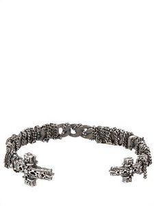 Emanuele Bicocchi Bracelet for Women, Brown, Silver, 2017, One Size