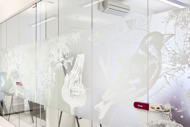 More white ink onto our frosted window film - Frostbrite. Stunning. www.windowfilm.co.uk