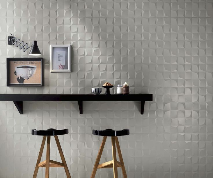 Indoor Tile Wall Mounted Ceramic High Gloss LUMINA CUBE GREY MATT F
