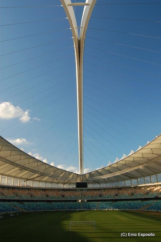 Durban's Moses Mabhida Stadium, KZN, South Africa by Enio Esposito, via Behance