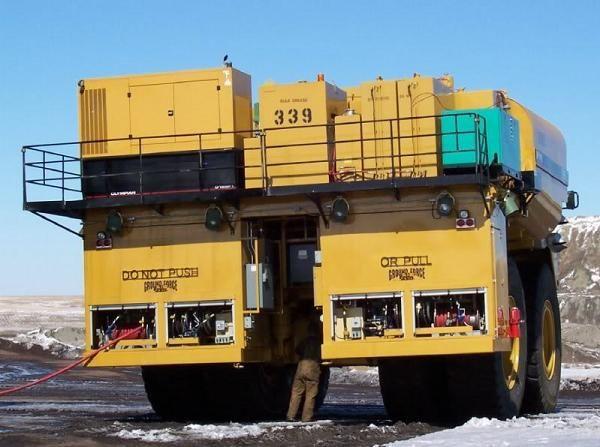 Giant CAT service truck