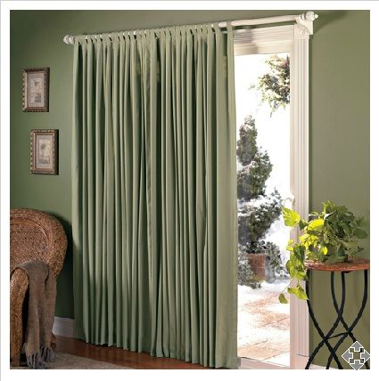 Insulated Drapes for Sliding Glass Doors. Kitchen must have.