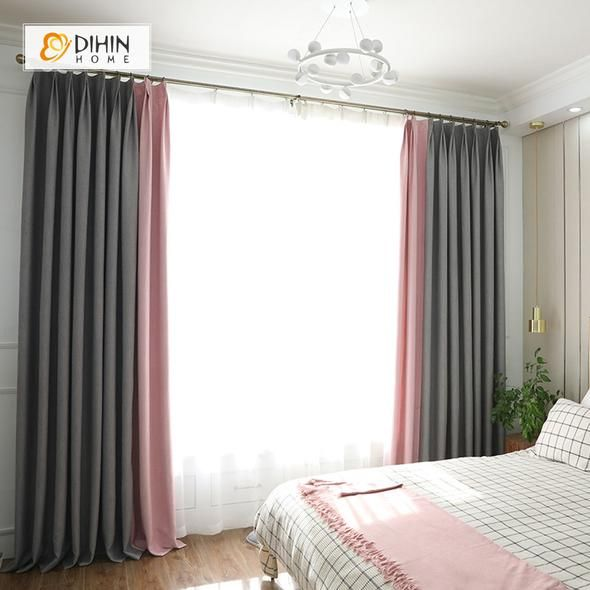 Dihin Home Black And Pink Printed Blackout Grommet Window Curtain For Living Ro Curtains Living Room Living Room Decor Curtains Scandinavian Design Living Room