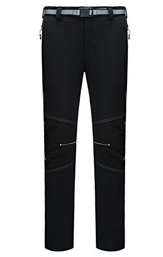 Introducing Oncefirst Womens Fleece Elastic Flat Front Active Outdoor Pant 2XL Black. Great Product and follow us to get more updates!