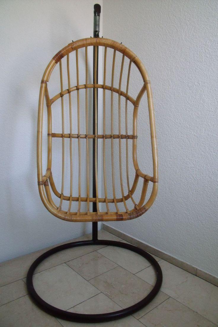 Affenschaukel Hängesessel Hängekorb Mit Metallgestell Aus Rattan U. Bambus  In Möbel U0026 Wohnen, Möbel