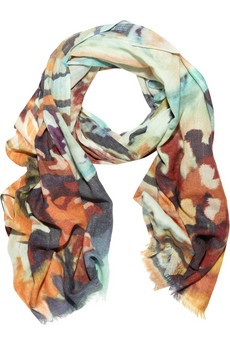 Lily & Lionel sunflower wool & silk blend scarf - gorgeous colors! Imagine how many fun outfits can come together from this color inspiration.