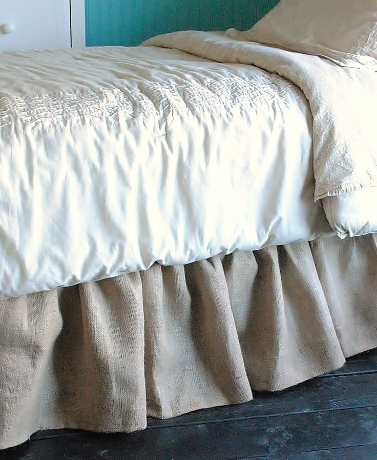 Burlap Bed Skirt Queen and King by PaulaAndErika on Etsy https://www.etsy.com/listing/65444478/burlap-bed-skirt-queen-and-king