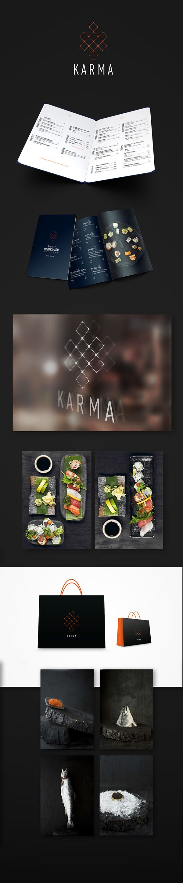 Karma Sushi Identity on Behance