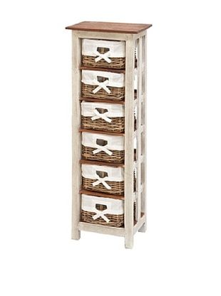 59% OFF Uma Solid Wood Rattan Cabinet, White