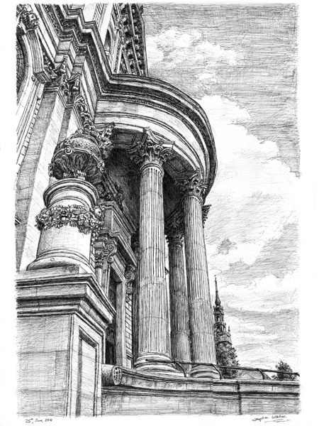 St Pauls forever - drawings and paintings by Stephen Wiltshire   I really like the lines and intricate detail available. Its eye catching and beautiful to look at.