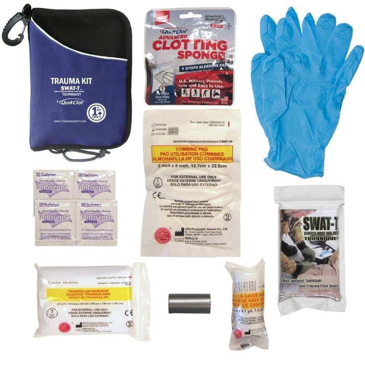 Trauma Kit with QuikClot & SWAT-T Tourniquet