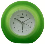 Equity 25300 Frosted Green Analog Alarm Clock - Colorful Alarm Clocks