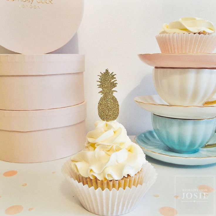 Pineapple Cupcake Topper