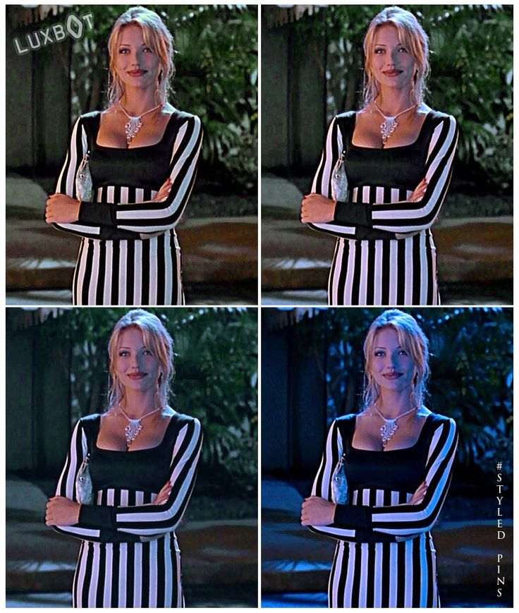 Cameron Diaz - That dress / The Mask / diaz #themask #stripedress #styledpins…