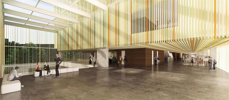 OPERASTUDIO - Competition - Helsinki public library - #render #lobby