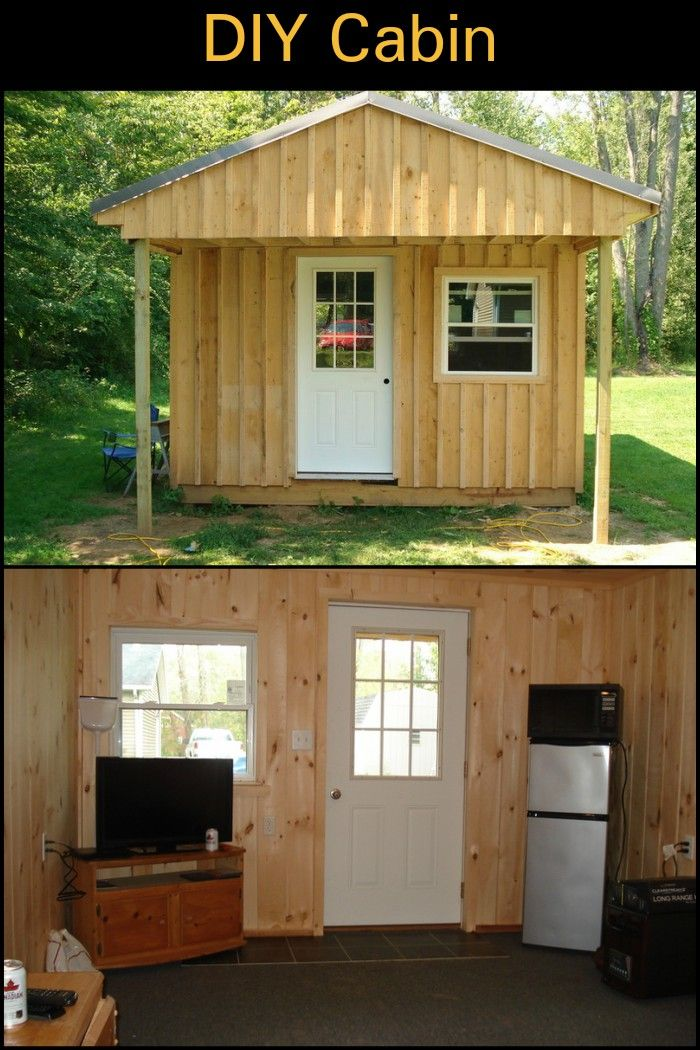 Wouldn T It Be Great To Have Your Own Cabin Right In Your Backyard Why Not Build Your Own Diy Cabin Diy Shed Plans Shed Plans