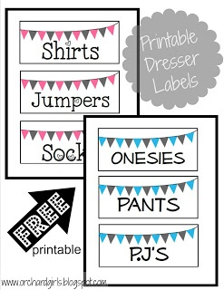 Nursery Organization   FREE Label Printables!