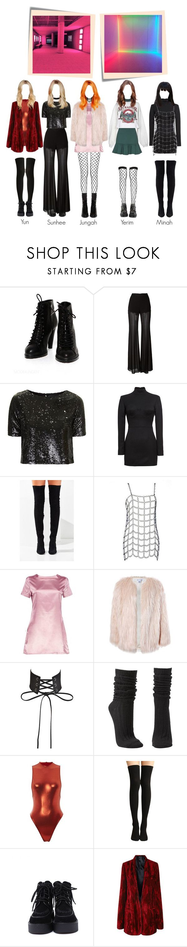 """SOLAR ( COMEBACK ) - I WANT YOU "" MV """" by solarofficial ❤ liked on Polyvore featuring Alberta Ferretti, Topshop, Vetements, Jeffrey Campbell, Boohoo, Sans Souci, Charlotte Russe, AQ/AQ, Haider Ackermann and Victoria, Victoria Beckham"