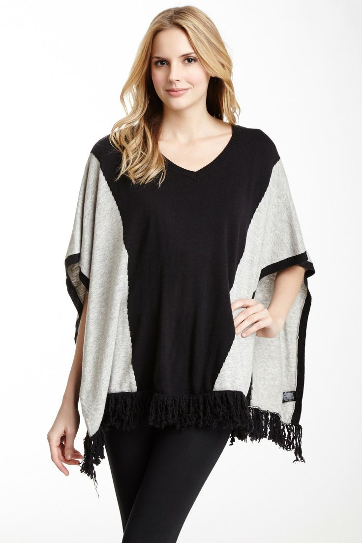 Colorblock Poncho Love This It Looks Like It Would Be Very Flattering Apparel Pinterest
