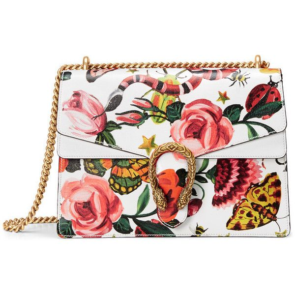 Gucci Garden Exclusive Dionysus Shoulder Bag ($2,700) ❤ liked on Polyvore featuring bags, handbags, shoulder bags, gucci, gucci purses, shoulder bag purse, chain strap handbag, flap handbags and gucci shoulder bag
