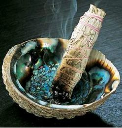 Sage Smudging. Purifies the energies in a home. Love when I do this in our home. It clears out the old stagnant, stale and negative energies. A must several times a year.