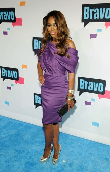 Kenya Moore: Real Housewives of Atlanta (RHOA) Celebs at the Bravo New York Upfront