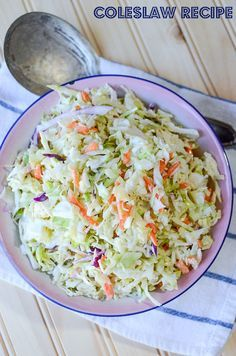 Making homemade coleslaw at home saves time and money. Try this quick and easy coleslaw recipe for your next picnic or cookout.