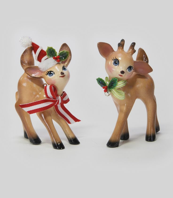 katherines collection cuckoo christmas collection set six assort approx standing reindeer figurines free ship - Christmas Reindeer 2