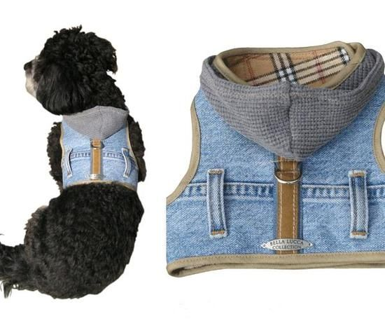 denim doggie vest