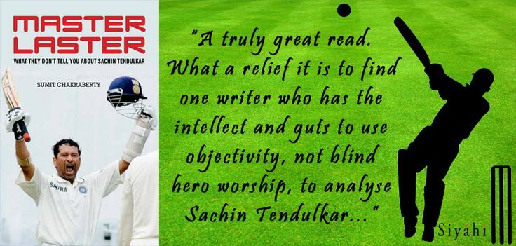 Master Blaster or Master Laster? This book takes you beyond Sachin Tendulkars career aggregates and passionate assertions.