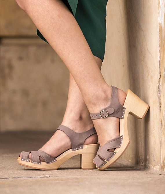 75b77aecb43ad Leather clogs by Kulikstyle, Swedish Clogs, leather shoes, boho ...