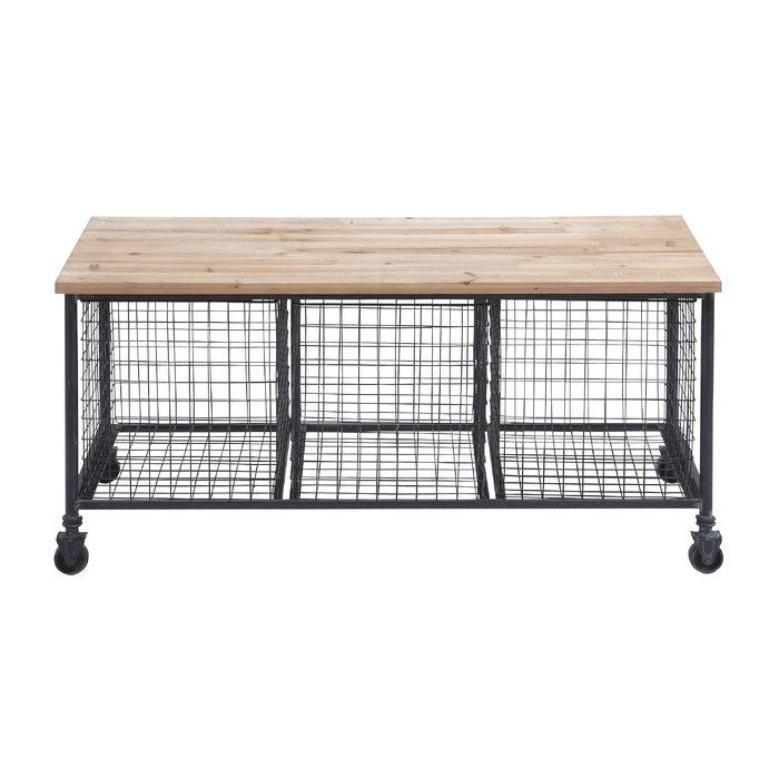 Utilitarian and stylish, this Woodland Imports Metal Storage Bench with Basket is a welcome addition to your home. It will look great in a cottage- style home decor. This Metal Storage Bench with Basket by Woodland Imports is made of wood and metal, which ensures strength and durability. It is skillfully crafted, which gives it a wonderfully stylish look. It is an excellent piece of furniture that offers plenty of room to sit. It features three baskets, which are perfect to store your home…