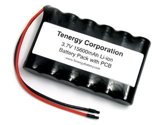Image of AT: Tenergy Li-Ion 3.7V 15600mAh Side-by-Side Battery Module w/ PCB Protection