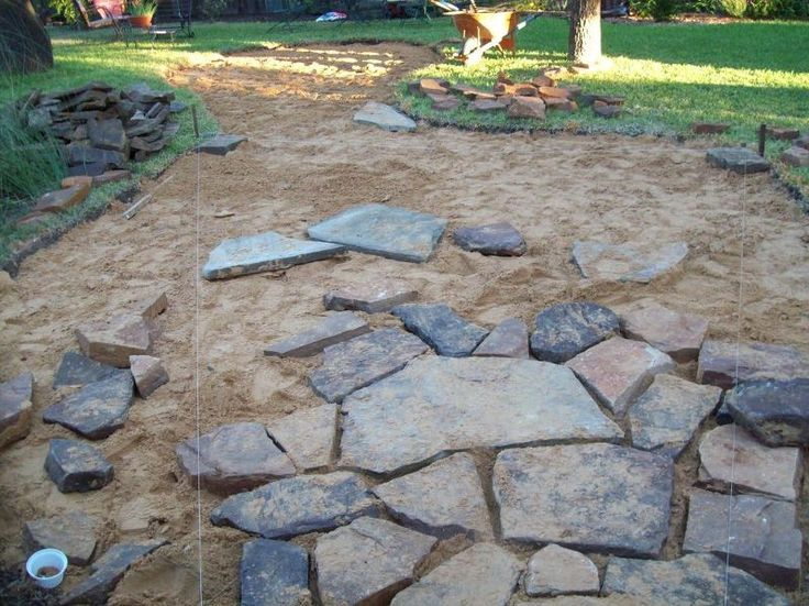 installing a flagstone patio - Stone Patio Ideas On A Budget