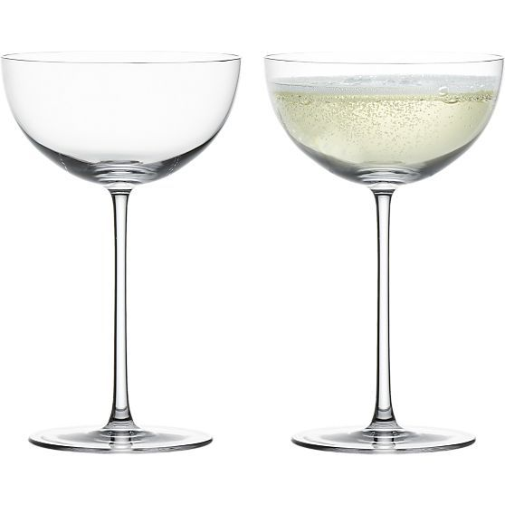 Crate&Barrel - Gatsby-era glamour in this statuesque take on the classic champagne coupe