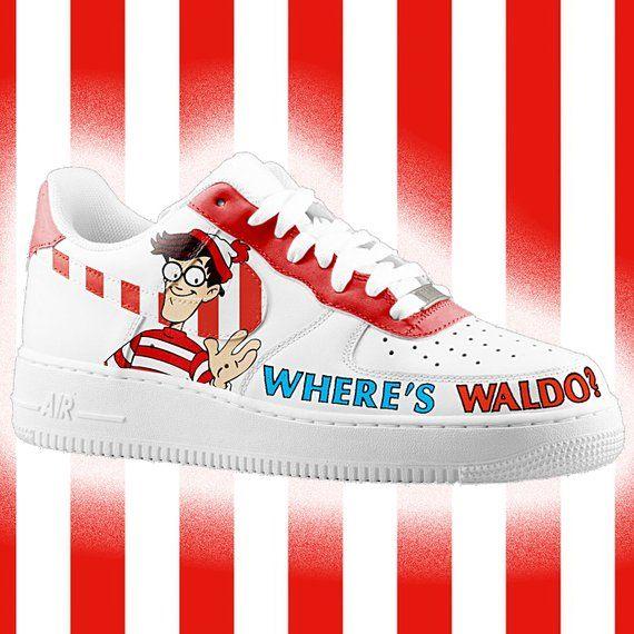 Where is Waldo? Custom Nike Air Force one, custom sneakers